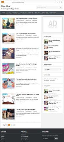 New Line template blogspot yang simpel dan praktis