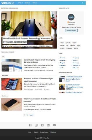 template blogspot yang simplel dan praktis